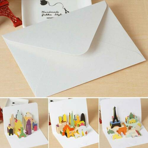 3D Pop Up Greeting Cards Birthday Children/'s Gift Small Thanks Card Message A+