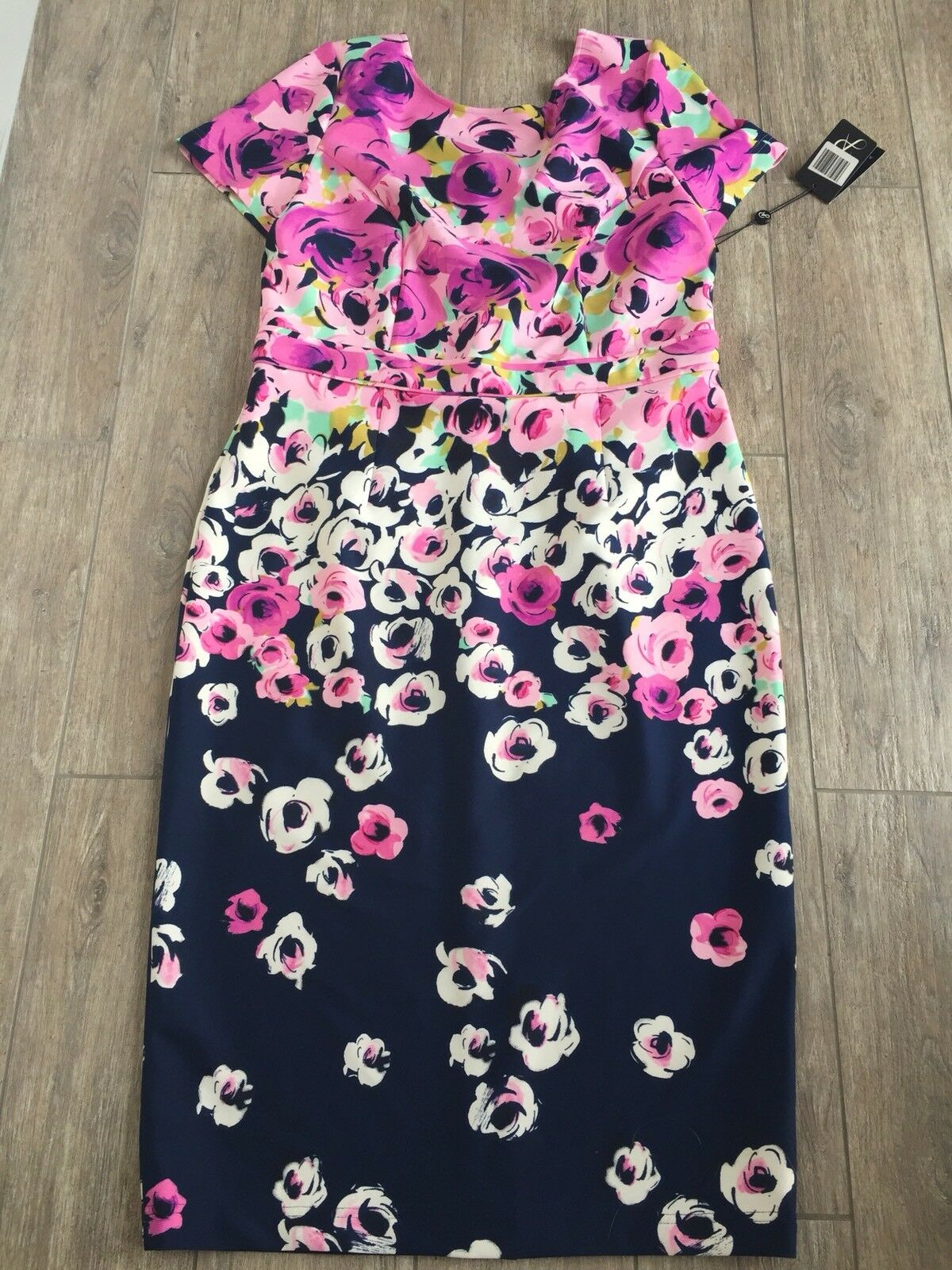 Floral Dress By Adrianna Papell Size 14 USA And 18 Au New With Tag