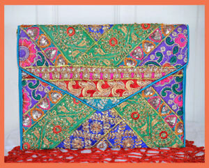 Sequin-Patchwork-Embroidered-Silk-Purse-Clutch-of-Recycled-Fabric-from-India