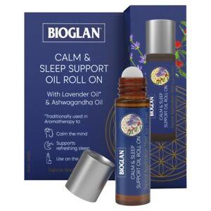 Bioglan Calm & Sleep Support Oil Roll-On 15mL Ashwagandha Lavender Grapeseed Oil