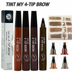 Women Eyebrow Liner Natural 4 Points Tattoo Eyebrow Pen 5 Colors HOT