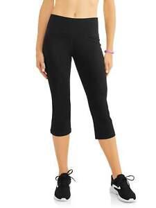 women's core active yoga capri pant black size l athletic