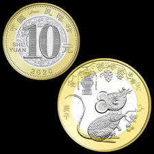 China 10 yuan 2020, Year of the Rat. Zodiacs Coin Bimetallic, NEW