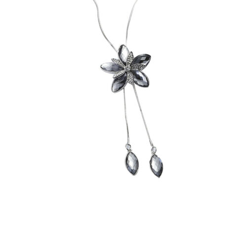 Blau // Modishe kette Hals Schmucksachen mit Tulpe Blumen Stil Anhänger