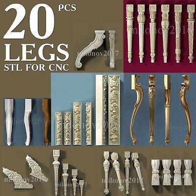 3D STL Model Collection 8 pcs Pack for CNC Router Aspire Cut3d Artcam