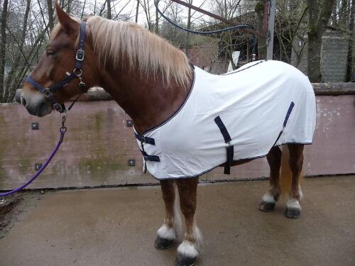 XL**FLIEGEN-EXCEMERDECKE*NEU weiß 135cm-Angebot Kaltblut-Friese-Kräftige Pferde
