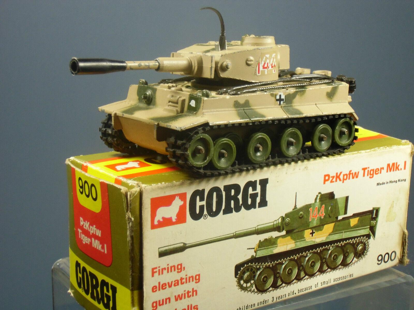 CORGI TOYS MODEL  No.900 No.900 No.900  PzKpfw TIGER Mk1 TANK               VN MIB a5de58