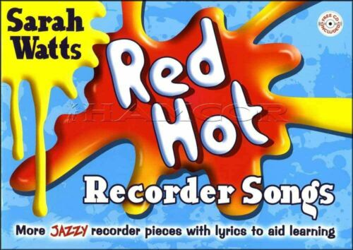Red Hot Recorder Songs Sheet Music Book//CD Jazzy SAME DAY DISPATCH
