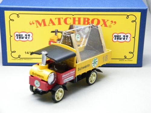 Matchbox MoY Code 2 YGL-37 Yorkshire Glaserei mit Ladung blaue Box 1 von 9 OVP
