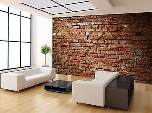 Old Stone Simple Red Brick Wall Mural Photo Wallpaper Giant Wall Decor Ebay