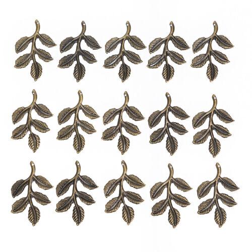 30pcs//set Leaf Filigree Wraps Connectors Metal Charm DIY Findings Jewelry gift