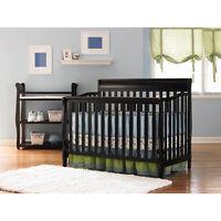 Graco Crib 4-in-1 Convertible & Bonus Mattress Nursery Crib Furniture Set