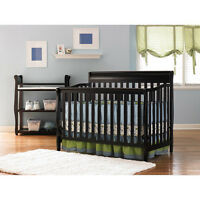 Graco Crib 4-in-1 Convertible & Bonus Mattress Nursery Crib Furniture Set