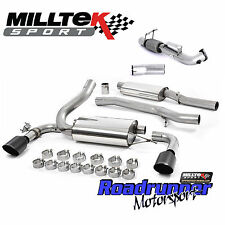 """Milltek Focus RS MK3 Turbo Back Exhaust System & DeCat Downpipe 3"""" Resonated Blk"""