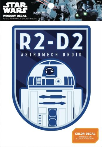 STAR WARS R2-D2 ASTROMECH DROID BADGE WINDOW DECAL  5 X 7 INCHES #smay17-26