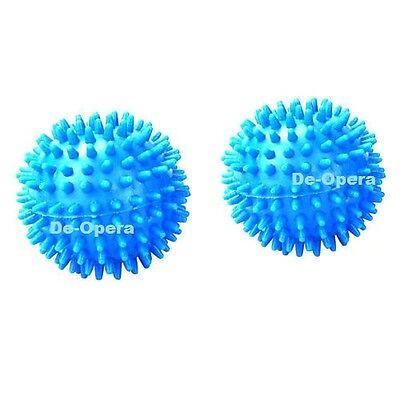 2 x TUMBLE DRYER CLOTHES SOFTENER WASHING MACHINE BALLS CLOTHES SOFTNER BALL NEW