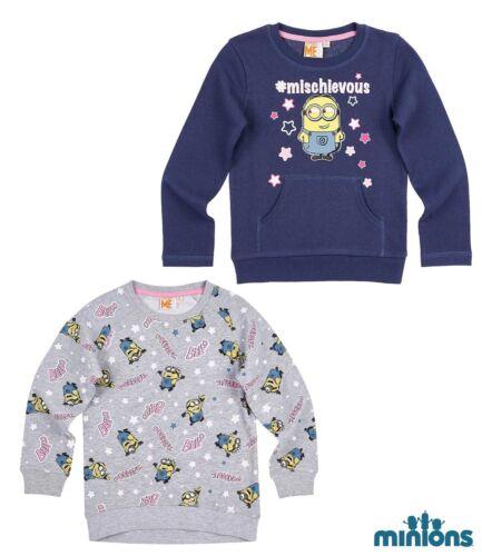 Neu Kinder Pullover Sweatshirt Jungen Minions grau blau 104 116 128 140 152 #141