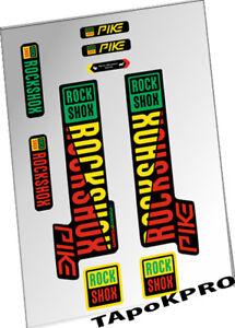 RockShox PIKE 2015 2016 2017 Repro Decals Stickers Custom 3 Colour Design Pk