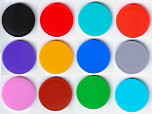 Farben Einkaufswagenchip Wertmarke Pfandmarke mit Griffrand in versch