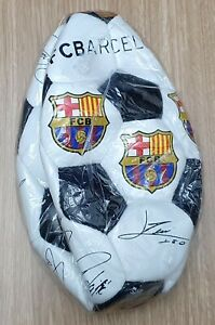 FOOTBALL Official F C Barcelona Synthetic White Black 32 Panel Size 5 Replica