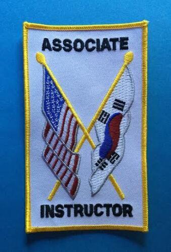 Rare Associate Instructor TKD Tae Kwon Do Martial Arts MMA Gi Uniform Patch 510