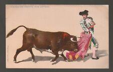 [62813] OLD POSTCARD CAPEO DE FRENTE POR DETRAS Bull Fighting Series