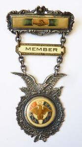 Insigne Broche Fraternal Order Of Eagles Vers 1910 Médaille Medal Usa