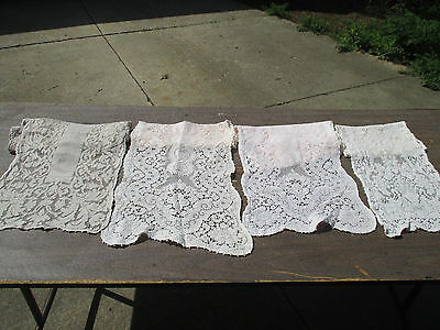 Lace Table Runners Picot Edge Vintage Flowers Lot of 4 Crafters Cutters Sewing