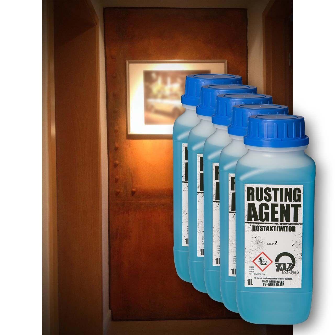 Rusting Agent Rostaktivator 5l   Schnellroster für Rosteffekt   Echt-Rost