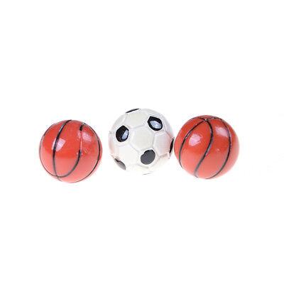 1:6//1:12 Dollhouse Miniature Sports Balls Soccer Football and Basketball DecODCA