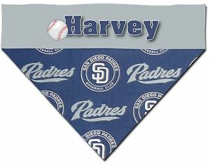 57a63241c Over the Collar Dog Personalized MLB San Diego Padres Bandana ...