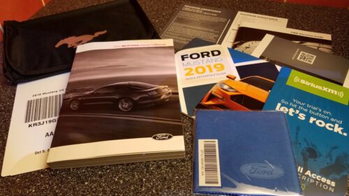 ☆☆ 2019 FORD MUSTANG OWNERS MANUAL GT LX PORTFOLIO SET NEW☆☆