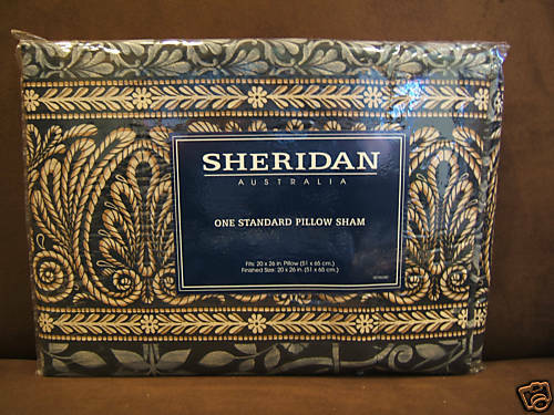 SHERIDAN STANDARD PILLOW SHAMS SET OF 2  DIVA NIP