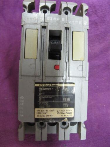 ITE SIEMENS HE63B100 WARRANTY 100 Amp 600 Volt 3 Pole Circuit Breaker