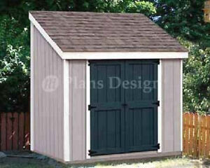 4 39 x 8 39 storage utility lean to shed building plans for Garden shed 4 x 8