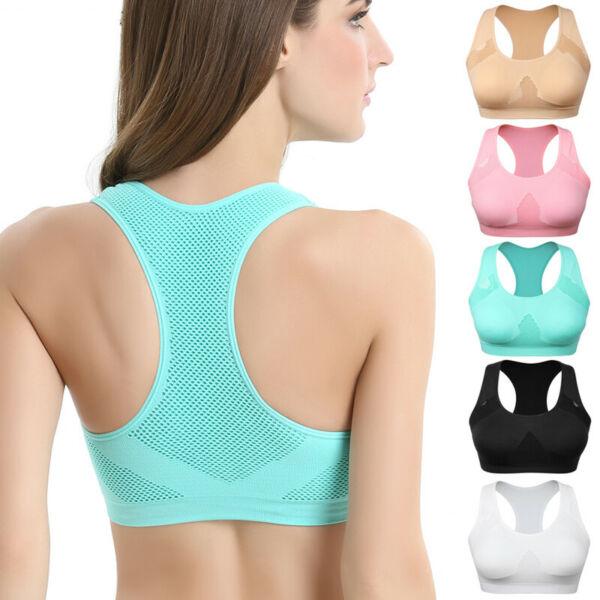 Frauen Atmungsaktive Absorbieren Schweiß Stoßfest Padded Sport Gym Yoga Bh Top