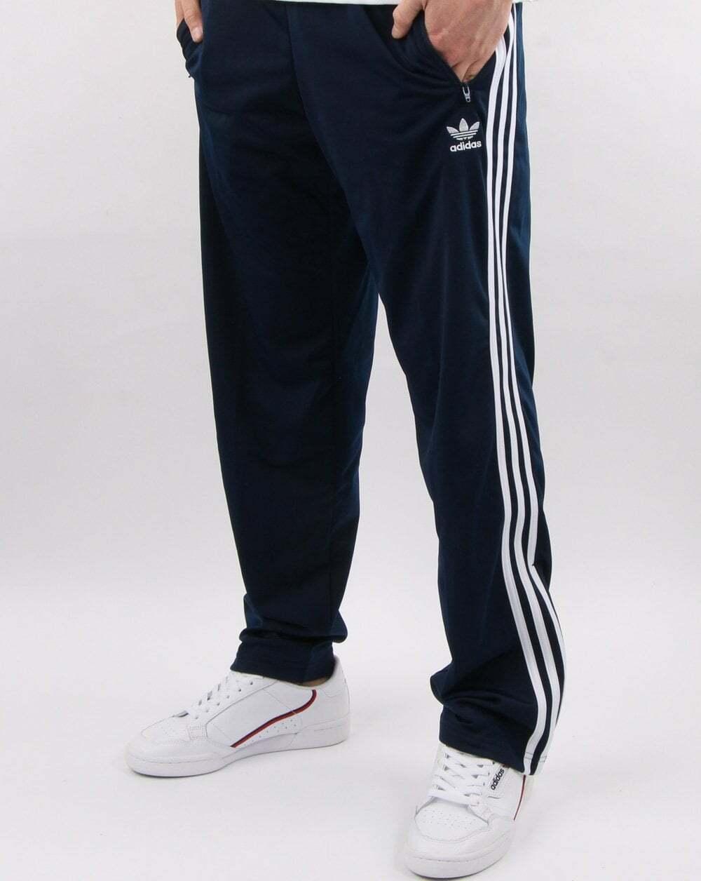 Adidas Originals Firebird Track Pants - Navy & Weiß - BNWT