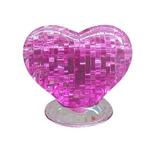 3D Furnish Heart  Shape Jigsaw DIY Puzzle IQ Gadget Development Toy Gift Decor