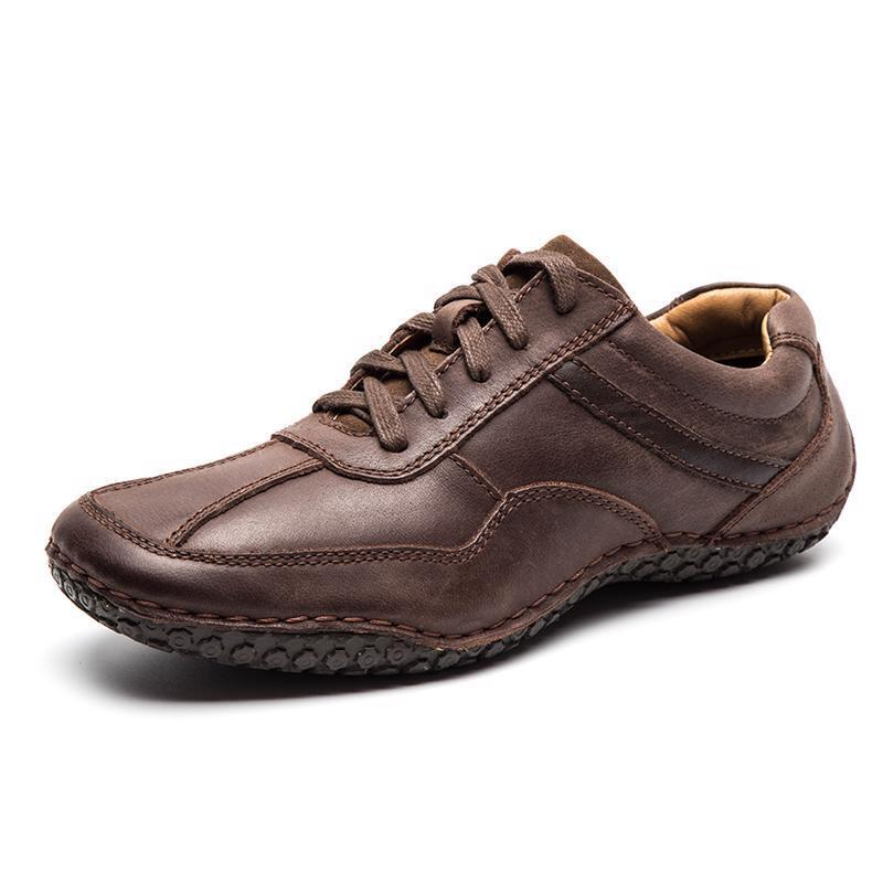 Autumn Spring Men Leather Casual Fashion shoes Lace-Up Flats Breathable Loafers