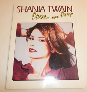 Shania-Twain-Come-On-Over-Book-Teaches-Piano-Vocal-Chords-Country-Music-1998