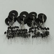 100stk Gummistopper Laufposen Posen Gummi-Schnurstopper zum Angeln Angelzubehör