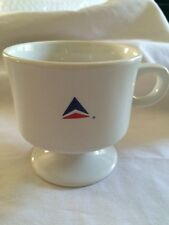 Delta Airlines Footed Coffee Tea Cup Mug First Class International Logo Old Abco