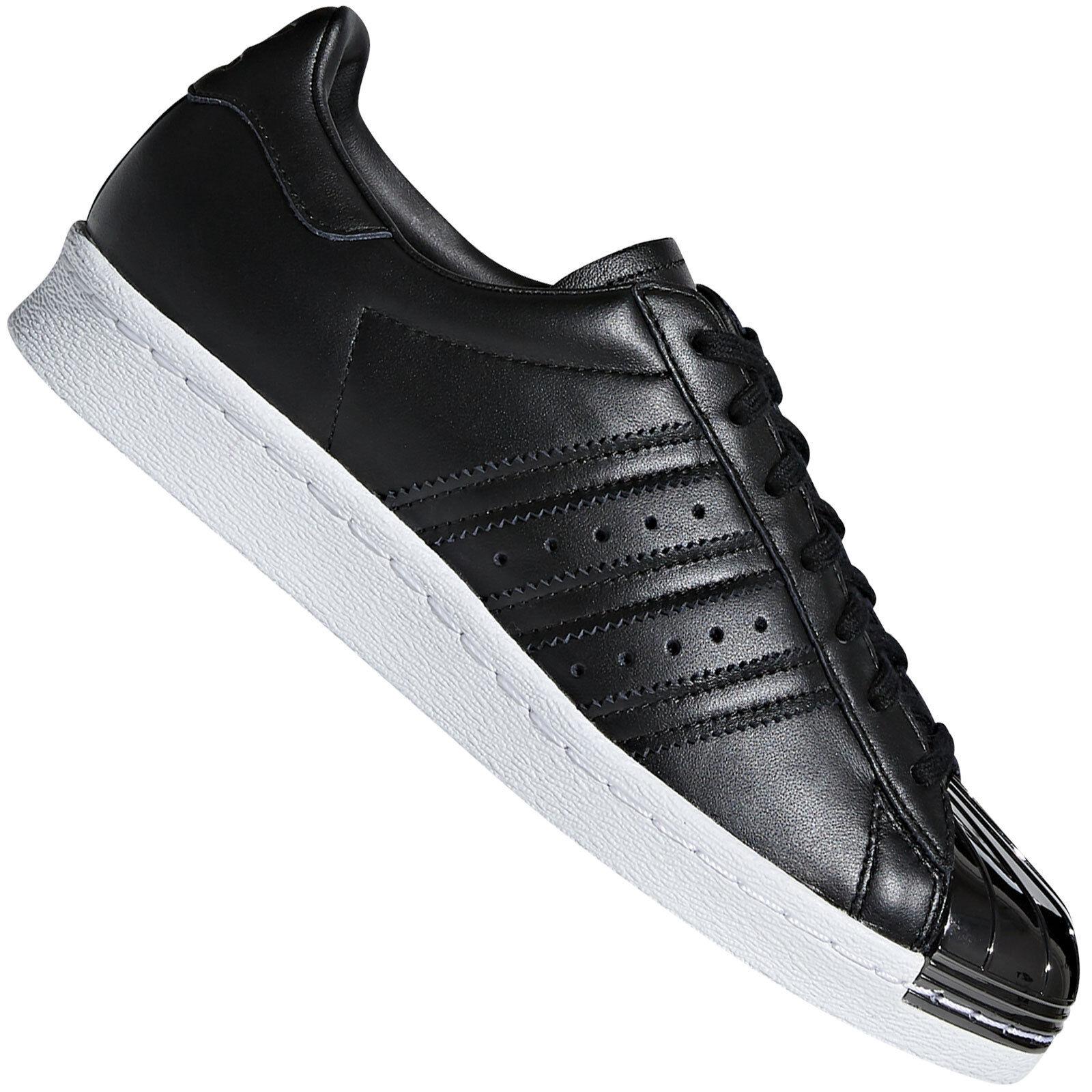 Adidas Originals Superstar 80s Métallique Baskets Femmes Noir Métal Orteil