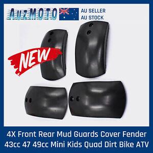 Mini Pocket Atv Quad Bike 4 Wheeler Wheel Tire Mud Guard Fender 47cc 49cc