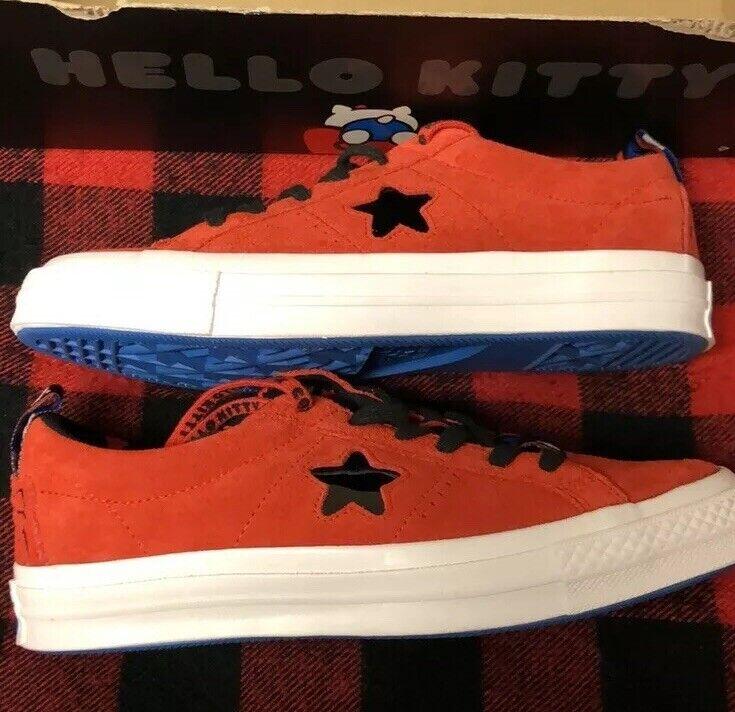 Donne 65533;Conversare scarpe da  ginnastica Hello Kitty One Star Low Top rosso Dimensione 8.5 NUOVO  design semplice e generoso