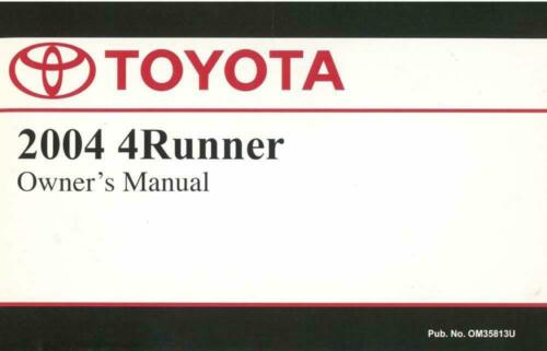 Bishko OEM Maintenance Owner/'s Manual Bound for Toyota 4Runner 2004