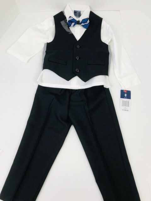 and Bow Tie Shirt Pants IZOD Boys 4-Piece Formal Tuxedo Set with Jacket