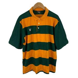 Wear-Wulf-Australia-Vintage-Rugby-Polo-Shirt-Size-XL-Short-Sleeve-1990s