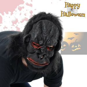 Details about Deluxe Latex Full Face GORILLA Mask SCARY Monkey Animal Ape  Halloween Costume