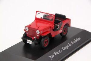 IXO-1-43-JEEP-WILLYS-Corpo-de-Bombeiros-Diecast-Toys-modele-de-voiture-cadeaux-de-Noel